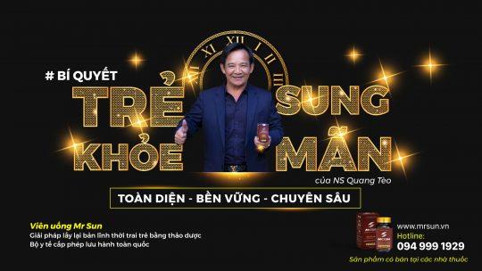 Viên uống Mr Sun với thành phần từ thiên nhiên giúp Diễn viên Quang Tèo duy trì bản lĩnh phái mạnh