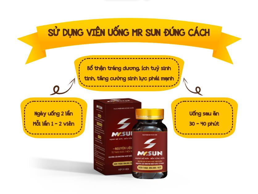 Viên uống Mr Sun với nhiều ưu điểm vượt trội, mang lại hiệu quả cao cho người sử dụng