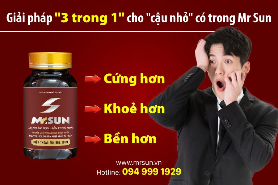 Viên uống tăng cường ham muốn tình dục Mr Sun được nhiều quý ông tin dùng