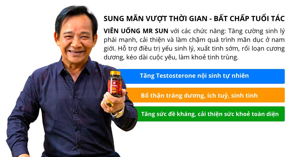 Viên uống Mr Sun là bí mật giúp nghệ sĩ Quang Tèo duy trì bản lĩnh đàn ông