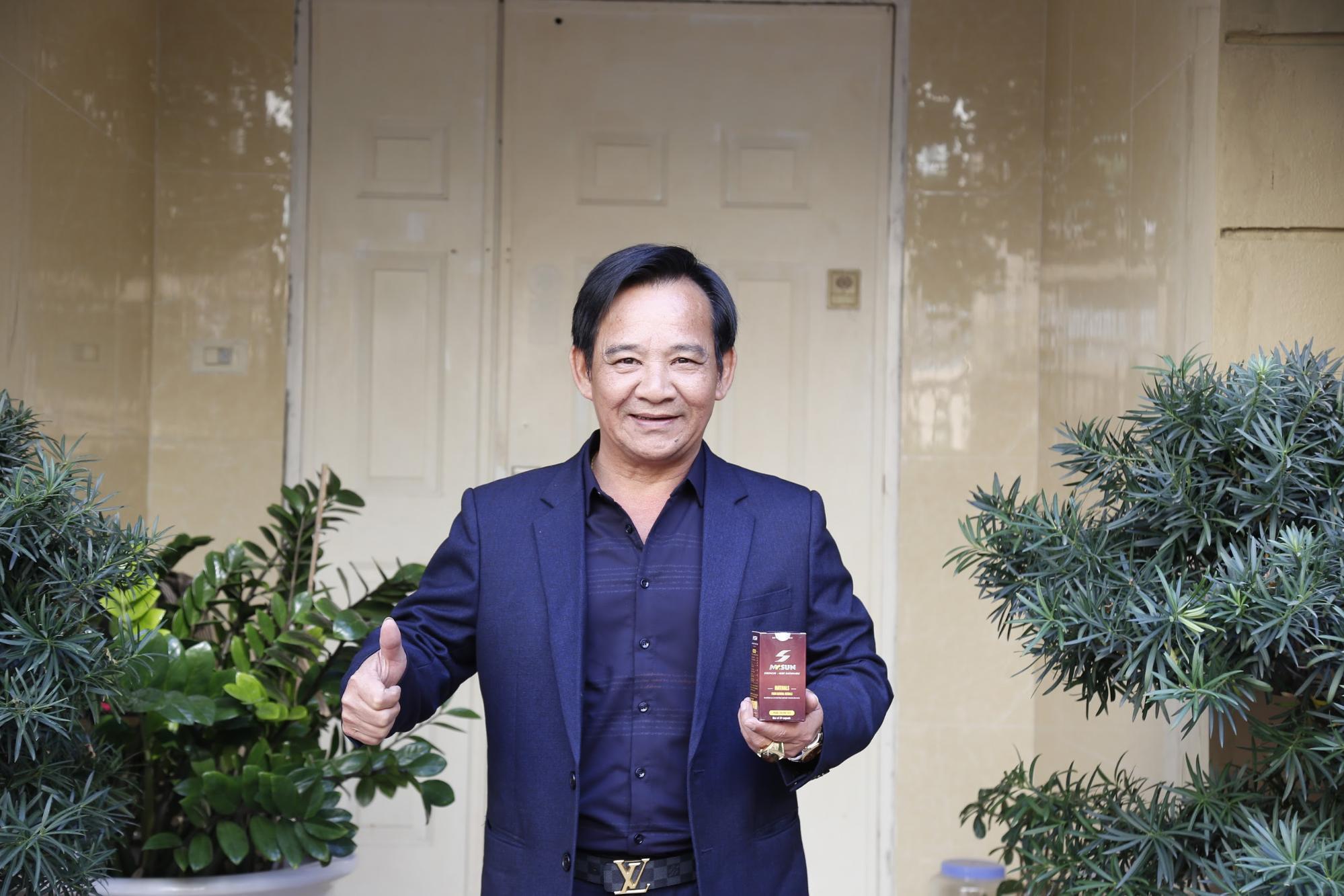 Nghệ sĩ Quang Tèo tin tưởng sử dụng viên uống Mr Sun để tăng cường bản lĩnh đàn ông