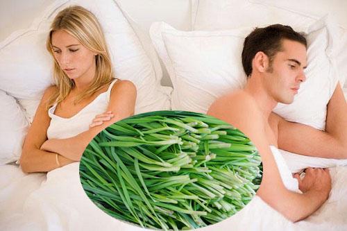 Lá hẹ là thực phẩm vàng cho sinh lý nam