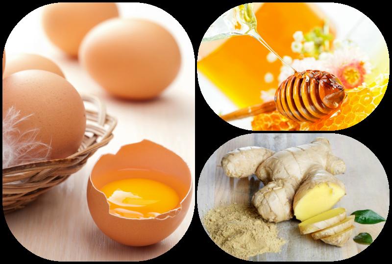 Trứng gà, gừng tươi, mật ong là bài thuốc chữa yếu sinh lý đơn giản cho nam giới