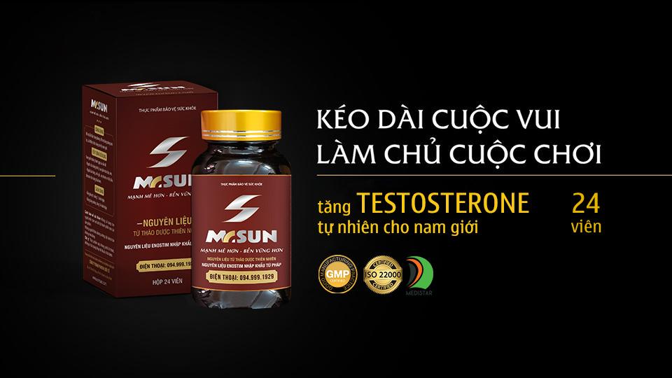 Viên uống Mr Sun tăng testosterone tự nhiên cho nam giới