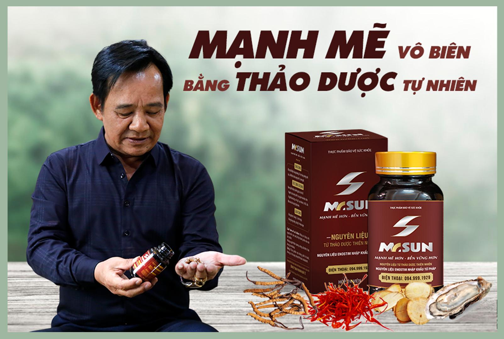 Nghệ sĩ Quang Tèo tin tưởng sử dụng Mr Sun để duy trì phong độ đàn ông