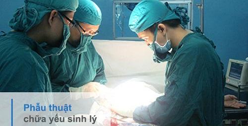 Phẫu thuật điều trị yếu sinh lý được chỉ định cho những bệnh nhân ở cấp độ nặng