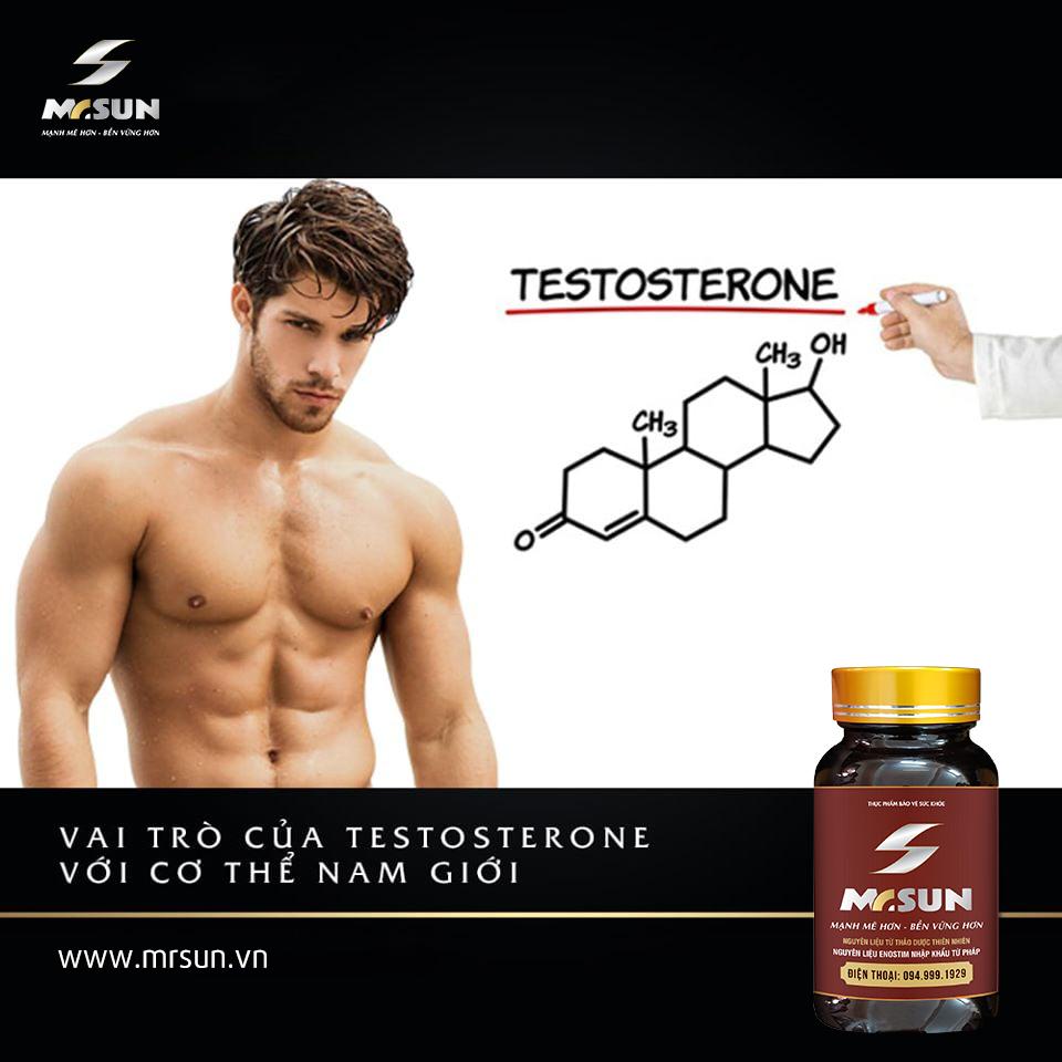 Testosterone có vai trò quan trọng đối với cả chuyện sinh lý và sức khoẻ sinh sản của nam giới