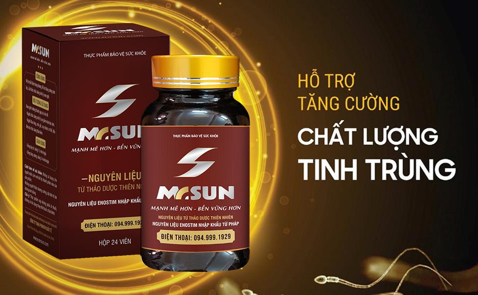 Viên uống Mr Sun hỗ trợ tăng cường chất lượng tinh trùng hiệu quả