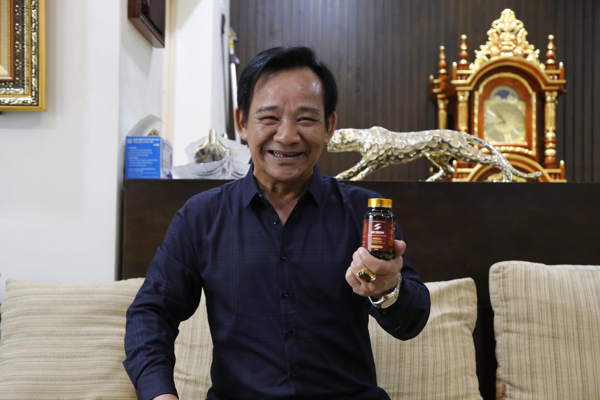 Nghệ sĩ Quang Tèo chia sẻ Mr Sun là bí quyết giúp anh duy trì phong độ ở tuổi U60