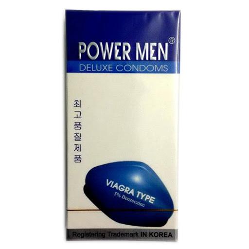 Bao cao su Power men Viagra có giá thị trường dao động khoảng 90.000 đồng/hộp 12 chiếc