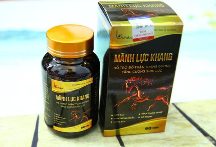 Thuốc kéo dài thời gian quan hệ cho nam Mãnh Lực Khang với thành phần ưu việt cho sinh lý nam