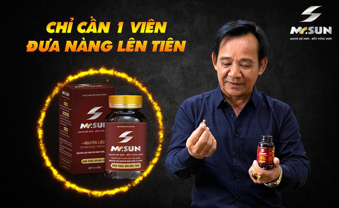 Viên uống Mr Sun được nghệ sĩ Quang Tèo xem là bảo bối phòng the