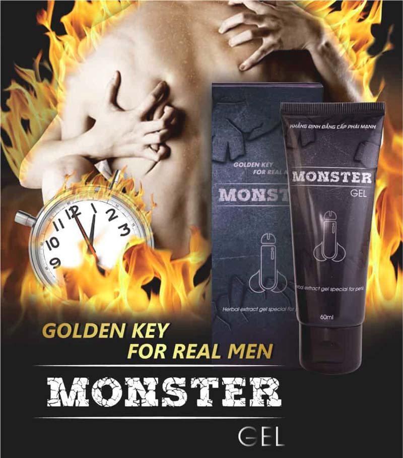 Thuốc kéo dài thời gian quan hệ Monster Gel hiện đang được nhiều nam giới tin dùng