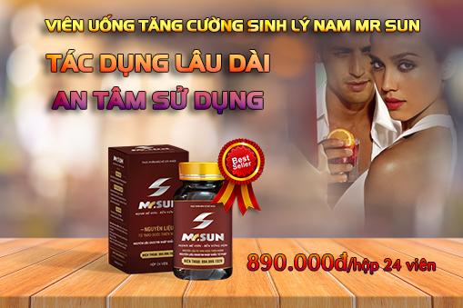 Viên uống Mr Sun chiết xuất từ 7 loại bổ dương tự nhiên giúp tăng thời gian quan hệ an toàn, hiệu quả - Giá niêm yết 890.000đ/hộp 24 viên