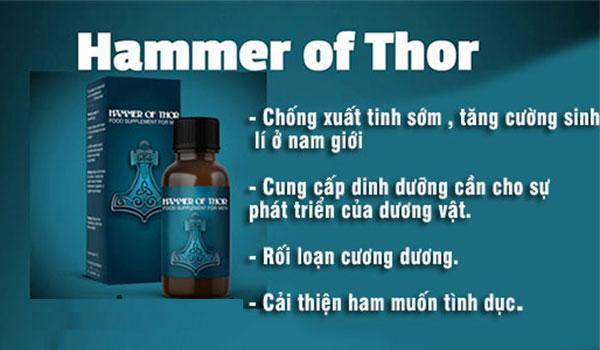 Hammer of Thor - thuốc kéo dài thời gian yêu dạng siro uống