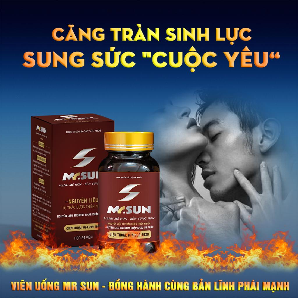 Viên uống Mr Sun được nhiều chuyên gia khuyên nam giới sử dụng bởi thành phần an toàn 100% từ thảo dược tự nhiên, không có tác dụng phụ