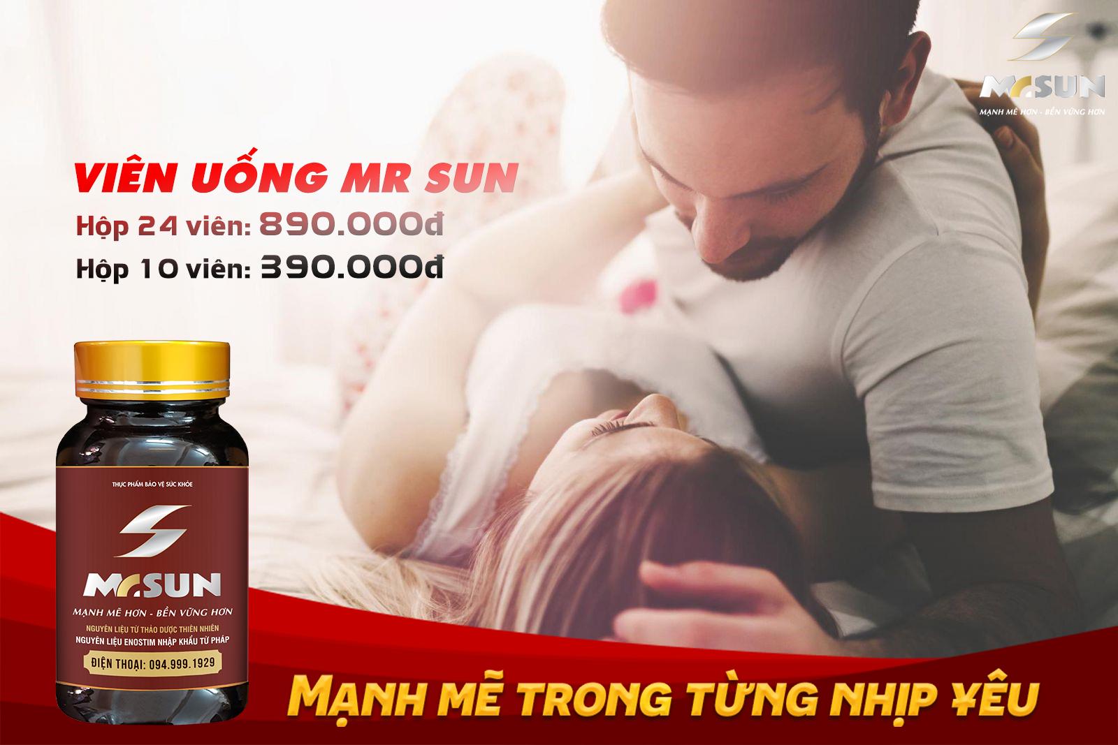TPBVSK Mr Sun đang được bán với giá 890.000 VNĐ cho một hộp sản phẩm 24 viên, và 390.000 VNĐ cho một hộp sản phẩm 10 viên