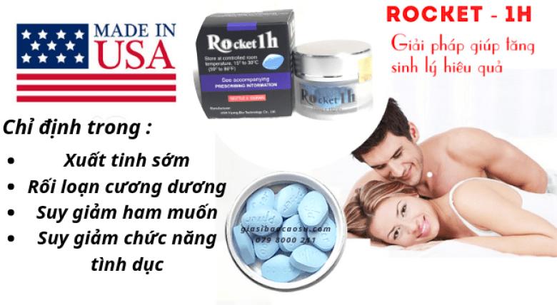 Rocket 1h cải thiện hiệu quả chức năng sinh lý cho nam giới
