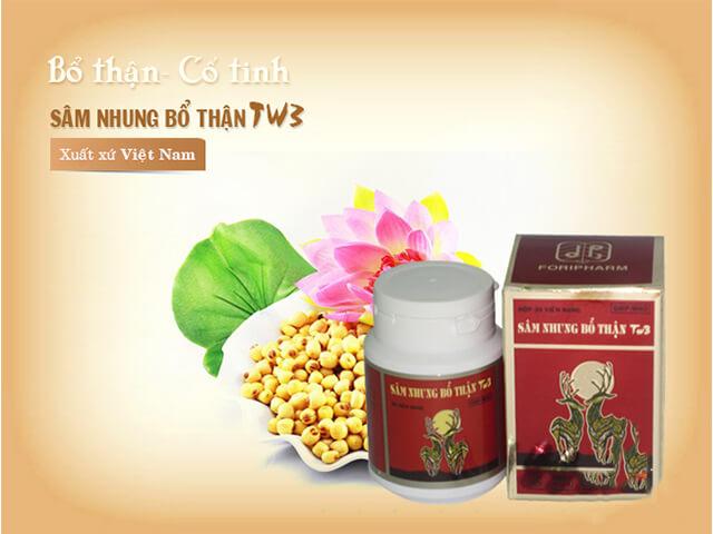 Sâm nhung bổ thận TW3 được sản xuất bởi Công ty CP Dược phẩm TW3