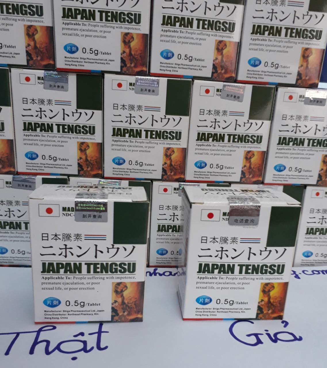 Cách nhận biết hộp sản phẩm Japan Tengsu thật và giả