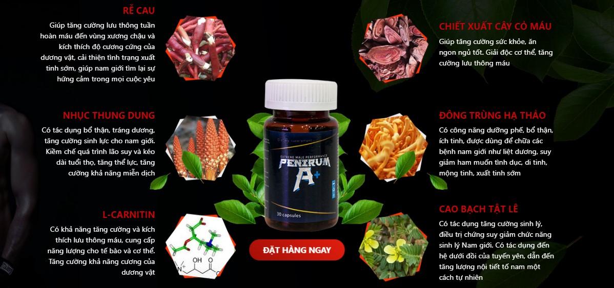 Thành phần chính của Penirum A+