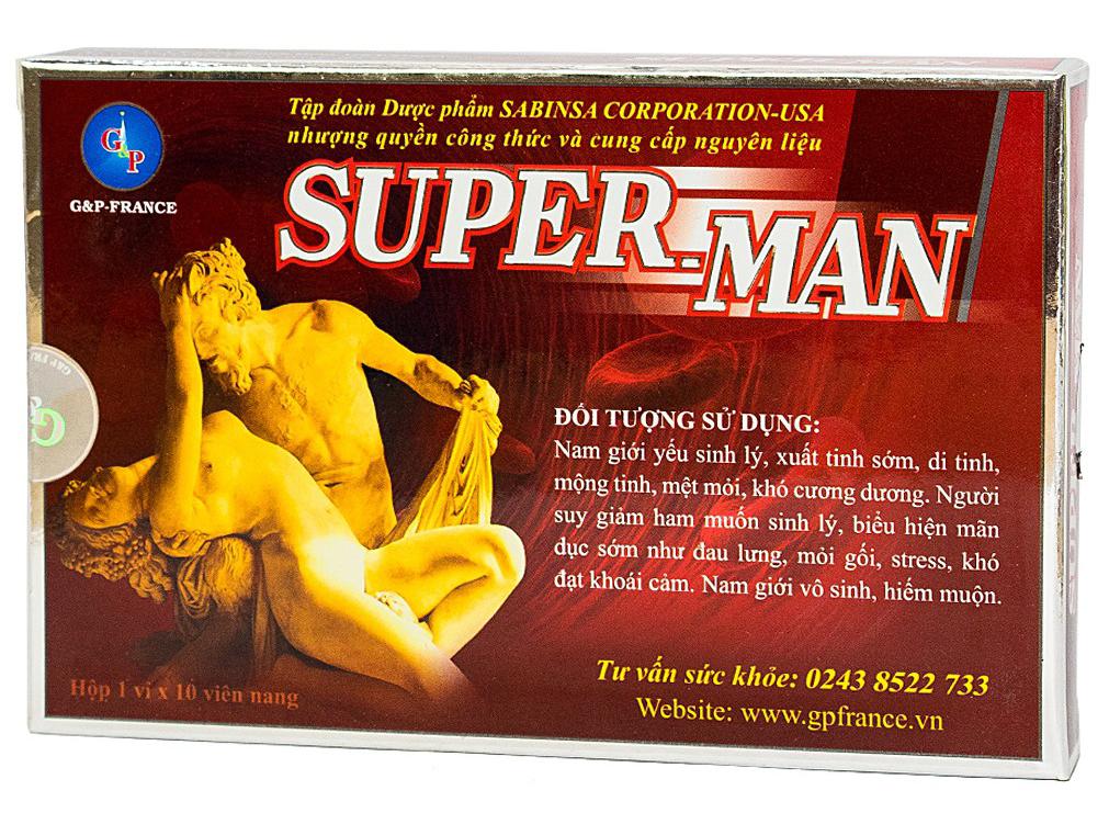 Thuốc tăng cường sinh lý nam Superman