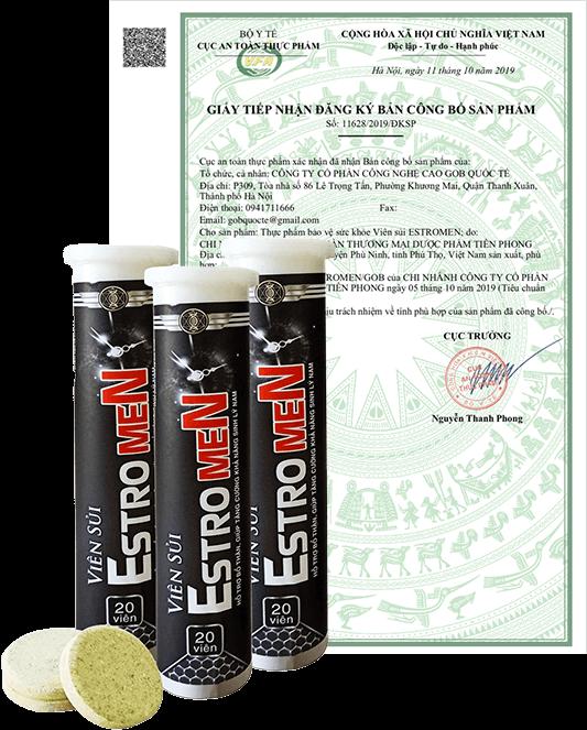 Viên sủi Estrogen có đầy đủ chứng nhận về chất lượng sản phẩm