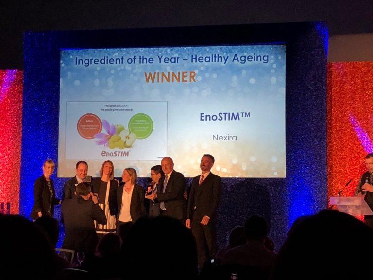 """Vừa qua, hoạt chất Enostim đã xuất sắc nhận giải thưởng """"Thành phần của năm"""" tại Triển lãm thành tựu y khoa thế giới Nutraingredients Awards 2019"""