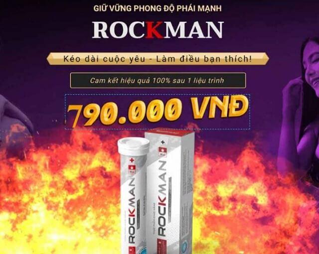 Viên sủi ROCKMAN có giá 790.000 đồng/hộp/20 viên