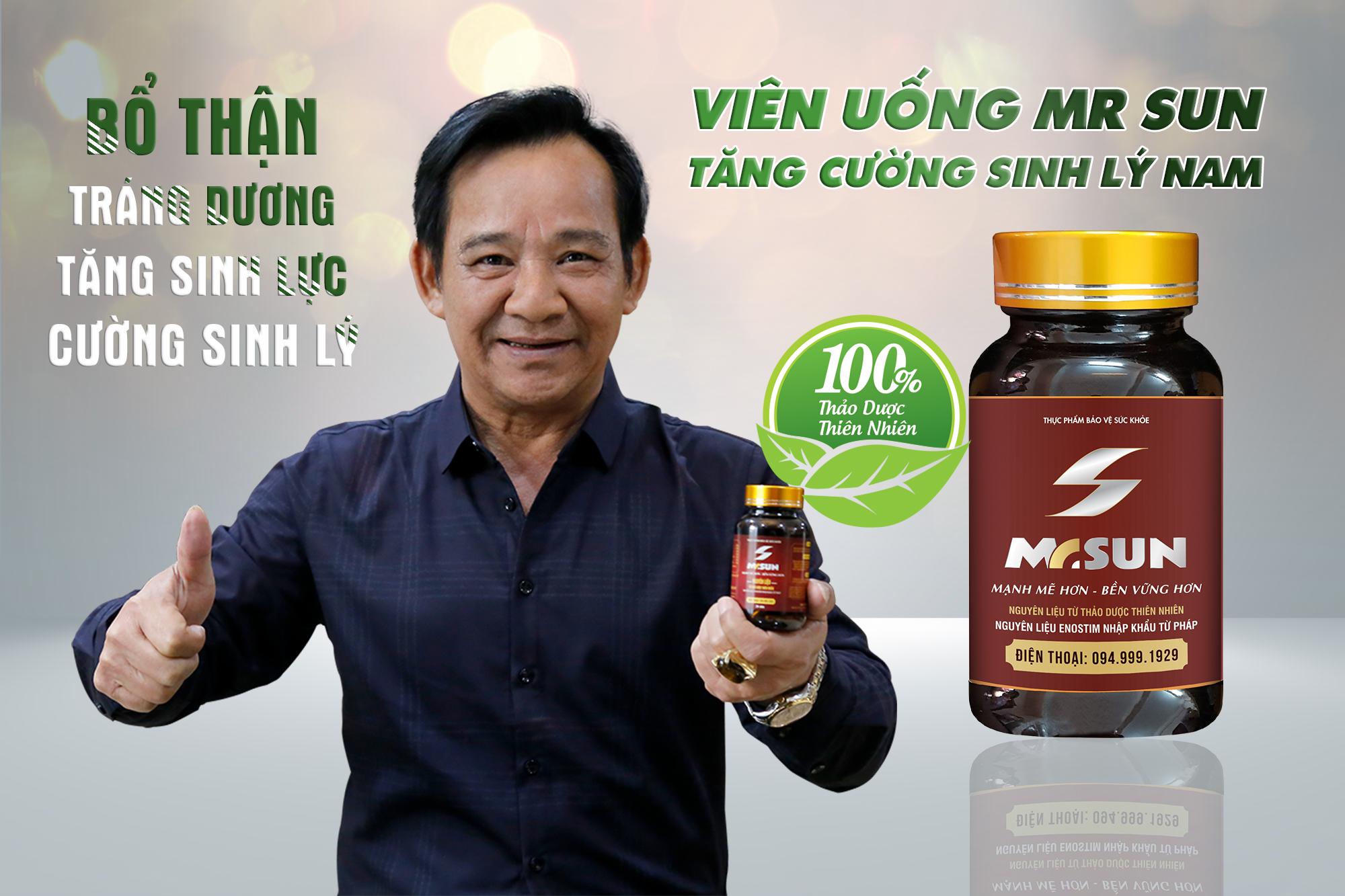 Nghệ sĩ Quang Tèo tin tưởng sử dụng Mr Sun