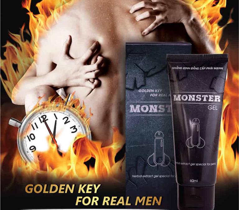 Monster gel giúp nam giới nhanh chóng tìm lại bản lĩnh phái mạnh