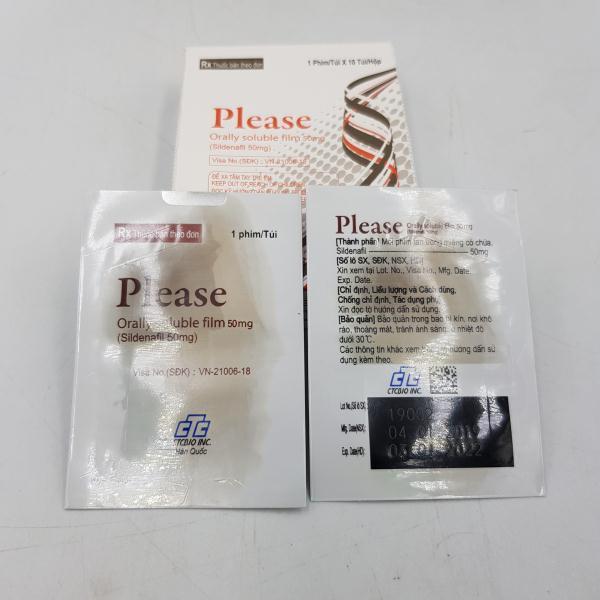 Tem ngậm Please Orally Soluble Film tiện lợi sử dụng và cho hiệu quả nhanh chóng