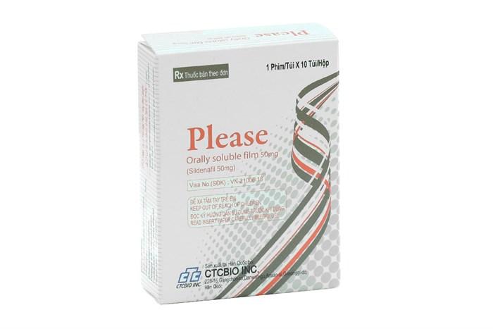 Tem ngậm Please Orally Soluble Film được chỉ định để điều trị các trường hợp rối loạn cương dương