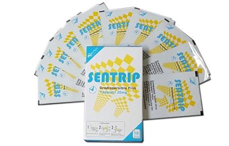 Tem ngậm Sentrip được sản xuất bởi Công ty Dược C.L.Pharm của Hàn Quốc và được nhập khẩu chính hãng về Việt Nam
