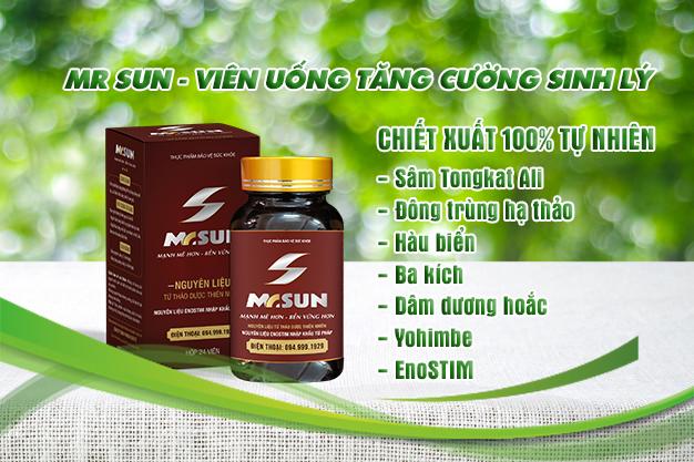 Viên uống Mr Sun được chiết xuất hoàn toàn từ các thảo dược tự nhiên