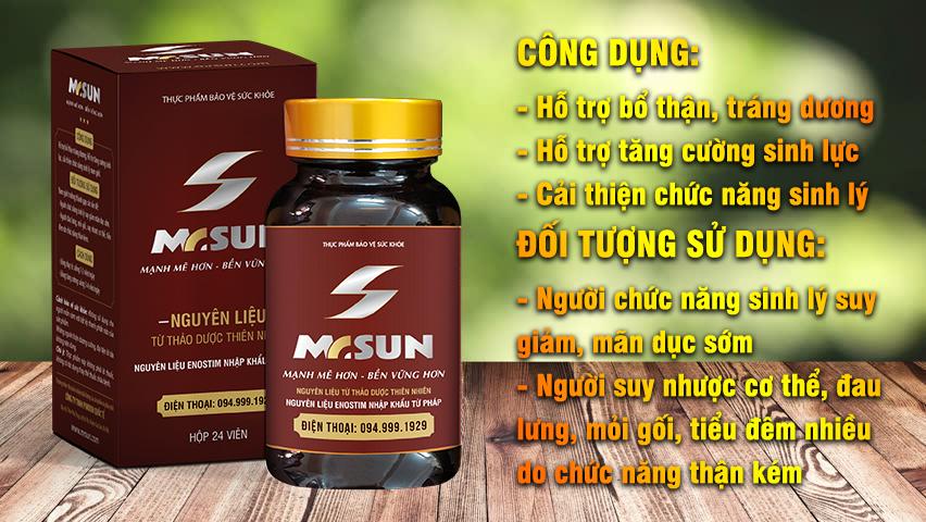 Công dụng và đối tượng sử dụng của viên uống Mr Sun