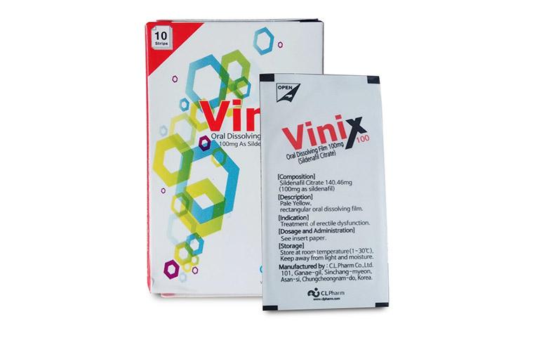 Tem ngậm chống xuất tinh sớm Vinix 100 là sản phẩm của Công ty C.L.Pharm Co., Ltd – Hàn Quốc